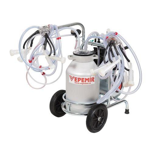 Aparat de muls oi si capre VEPEMIR 4 posturi si 1 bidon Aluminiu 40 litri