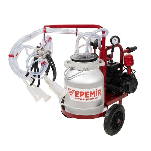 Aparat de muls capre si oi VEPEMIR 2 posturi si 1 bidon Aluminiu 20 litri ECOMR_OC