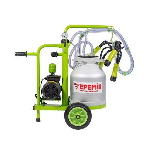 Aparat de muls vaci VEPEMIR 1 post si 1 bidon Aluminiu 25 litri ECO GREEN M