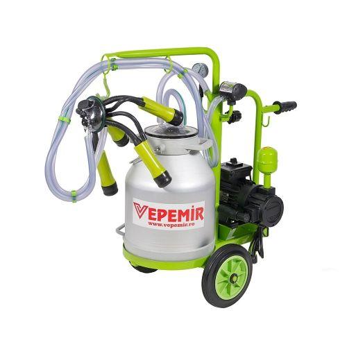 Aparat de muls vaci VEPEMIR 1 post si 1 bidon Aluminiu 30 litri ECO GREEN M