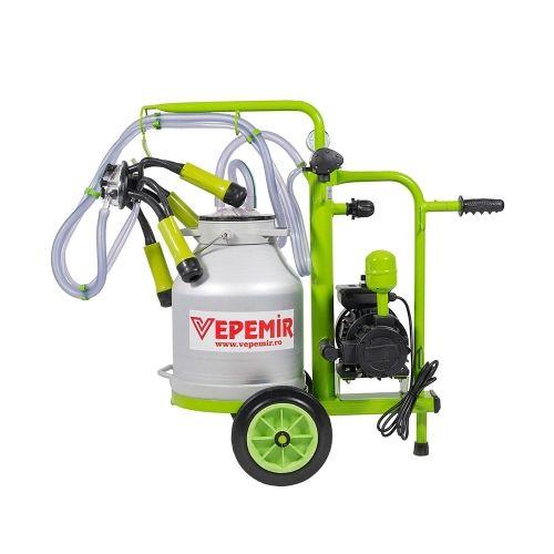 Aparat de muls vaci VEPEMIR 1 post si 1 bidon Aluminiu 40 litri ECO GREEN M