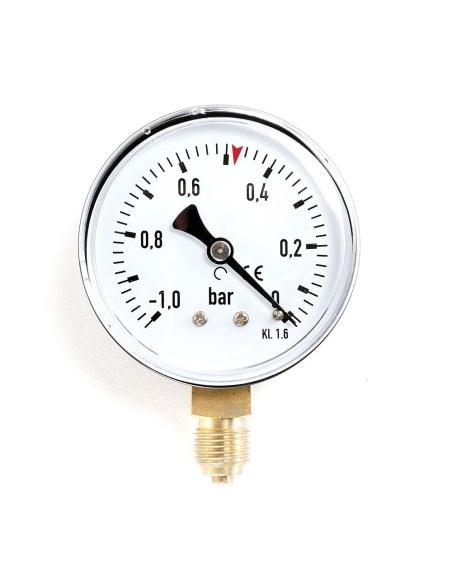 Citirea manometrului asigura ca vidul in instalatie sa se pastreze intre valorile normale cuprinse intre 0.3 - 0.5 bar.