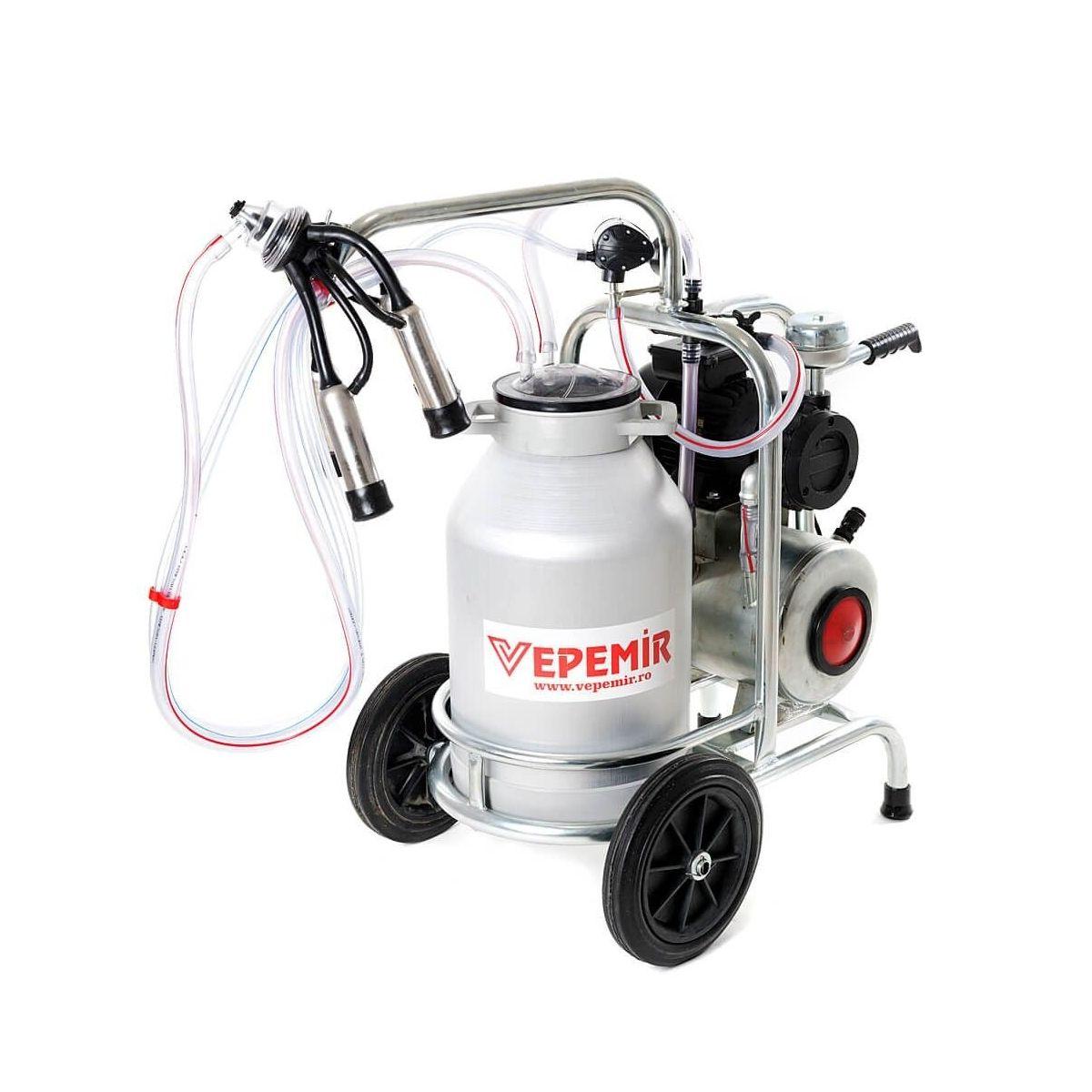 Aparat de muls vaci VEPEMIR 1 post si 1 bidon Aluminiu 20 litri