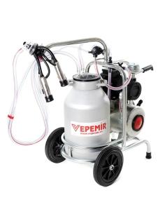 Aparat de muls vaci VEPEMIR 1 post si 1 bidon Aluminiu 25 litri