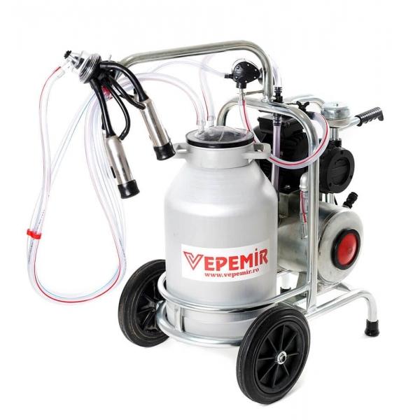 Aparat de muls vaci VEPEMIR 1 post si 1 bidon Aluminiu 30 litri