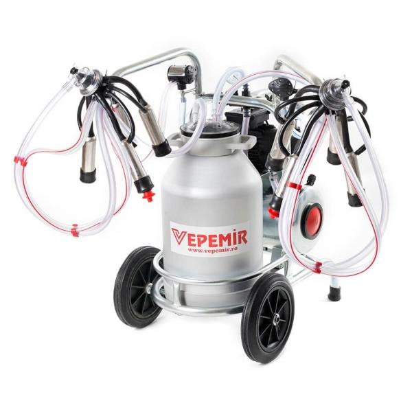 Aparat de muls vaci VEPEMIR 2 posturi si 1 bidon Aluminiu 25 litri