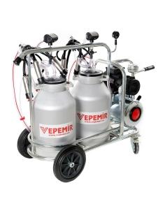 Aparat de muls vaci VEPEMIR 2 posturi si 2 bidoane Aluminiu 20 litri