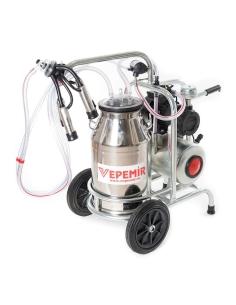 Aparat de muls vaci VEPEMIR 1 post si 1 bidon Inox 25 litri