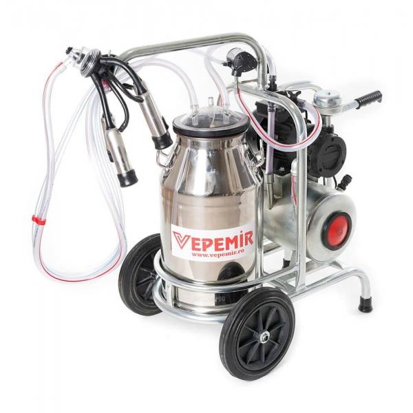 Aparat de muls vaci VEPEMIR 1 post si 1 bidon Inox 40 litri