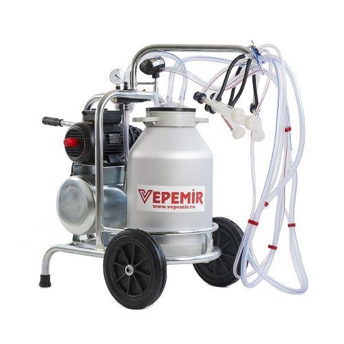 Aparat de muls oi si capre VEPEMIR 2 posturi si 1 bidon Aluminiu 40 litri -- VPM21A40_OC